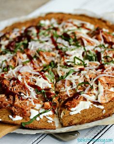 BBQ Chicken Pizza with cauliflower crust»  @Julie {Table for Two}