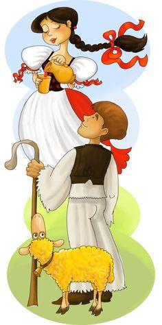 Ilustration for a folktale Folktale, Stories For Kids, Digital Illustration, Disney Characters, Fictional Characters, Illustrations, Disney Princess, Art, Art Background