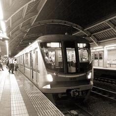 Chiyoda line train at Kyodo station Tokyo by aroundtokyo