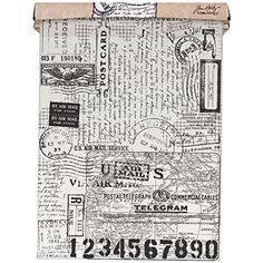 Create unique designs with stamps, inks and paints on Postale Tim Holtz Idea Ology Tissue Wrap. Use to create collage or layered effects. Perfect for your mixed media projects! This package contains 15 feet of 12 inch wide Postale patterned tissue wrap. Tim Holtz, Tissue Paper Wrapping, Tissue Paper Crafts, Gift Wrapping, Wrapping Ideas, Create Collage, Decoupage Paper, Online Craft Store, Arts And Crafts Supplies