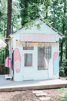 Cute surf shack birthday party ideas