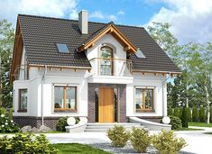 Dom Dla Ciebie 5 bez garażu [B] - zdjęcie 1 Cottage Plan, Design Case, Home Fashion, House Plans, New Homes, Home And Garden, House Design, Cabin, Mansions