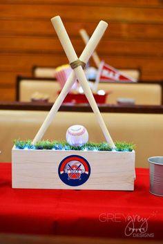 Baseball Themed Bar Mitzvah Decor by GreyGrey Designs Baseball Party, Baseball Kids, Football Baby Shower, Bar Mitzvah Party, Sports Baby, Christmas Ornaments, Holiday Decor, Birthday, Originals
