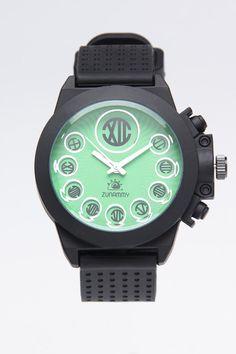 Zunammy Black Band with Green Dial Watch