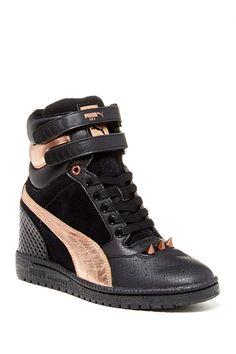 PUMA Sky Wedge Sneaker by PUMA on  nordstrom rack Leather High Tops 24e61c4da8ff