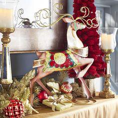 Capiz Scroll Reindeer