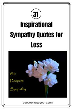 Do you want to express your sorry and sympathy to someone who has suffered the loss of a loved one? Well, these beautiful and inspirational sympathy quotes will help you do just that. Be inspired by these 31 sympathy quotes, and be sure to share them with your friends. #SympathyQuotesForLossThinkingOfYou #SympathyQuotesForLossUplifting