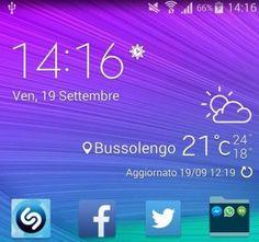 Samsung Galaxy S6 widget