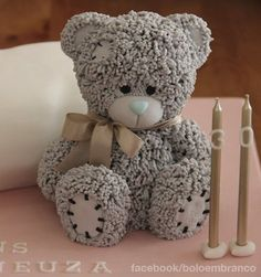 """Birthday Cakes - ♥♥ - 3D Pillow cake with """"Me To You"""" Teddy Bear Sponge cake with a filling of berries"""