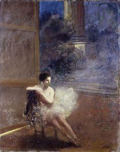 Seated Dancer, Jean-Louis Forain.