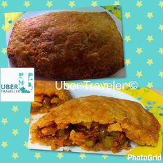 Vegetarian Puff stuffed with Green peas cheese in a flavourful tomato Ragú