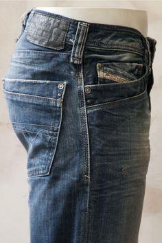 Diesel Men's Denim Jeans Timmen 8b9 Straight Fit - Jeans
