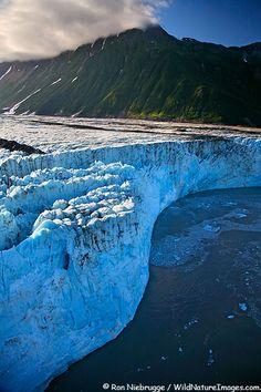 Aerial Photos of Child's Glacier, Chugach National Forest