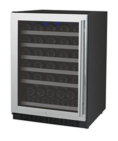 Allavino VSWR56-1SSLN - 56 Bottle Single Zone Wine Cellar Refrigerator - Left Hinge ** To view further for this item, visit the image link.