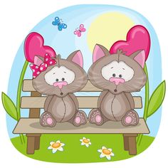 Lovers lovely animals vector set 01