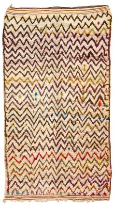 Vintage Rug from Morocco #45386  http://nazmiyalantiquerugs.com/antique-rugs/moroccan-rugs-vintage-carpets/