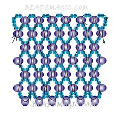 FREE Pattern for blue beaded necklace OCEAN | Beads Magic#more-9585. Use: seed beads 11/0, crystal rondelle beads 4mm. Page 2 of 2