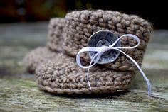 Baby boots crochet / Slofjes haken - Dimfies