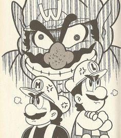Mario y Luigi vs Wario - Manga style