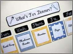 Meal Planning Magnets - Definitely going to consider this for this year!