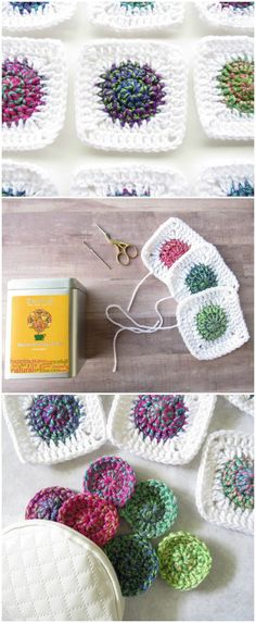 We have gathered a big list of crochet Projects that will really inspire you to make crochet Squares patterns with crocheting hooks.Sunburst Granny Square