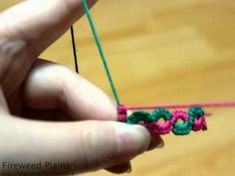 Fireweed Tatting Class, split ring, this is cool to watch even though I don't understand a thing she is saying :-)