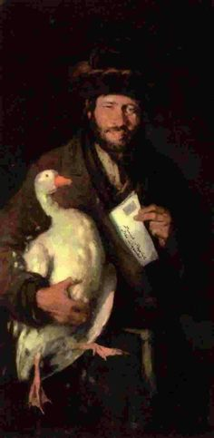 """Nicolas Grigorescu """"The Jew with the Goose"""" Fine Art, Artist, Painting, Romani, Impressionism, Animaux, Painters, Painting Art, Paintings"""