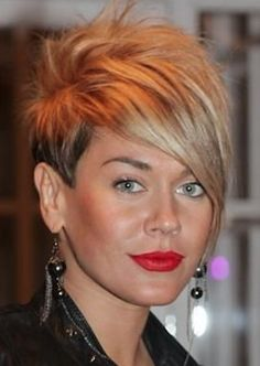 Cut not color! Funky Short Hair, Cute Hairstyles For Short Hair, Pretty Hairstyles, Short Hair Cuts, Short Hair Styles, Sassy Hair, Edgy Hair, Superkurzer Pixie, Pixie Cuts