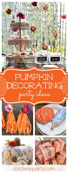 Don't miss this stunning Bohemian Boo Bash pumpkin decorating party! The cookies are so pretty! Party Activities, Halloween Activities, Halloween Kids, Pretty Halloween, Halloween Costumes, Halloween Party Favors, Diy Party, Party Ideas, Thanksgiving Crafts For Kids