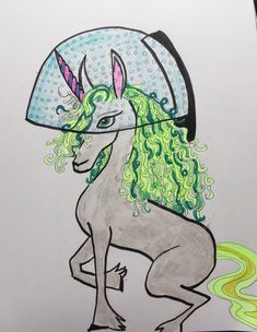 Unicorn getting a perm 30 Day Drawing Challenge, Getting A Perm, Mythical Creatures, Unicorn, Activities, Art, Art Background, Magical Creatures, Kunst