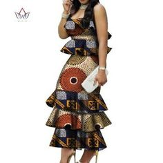 Image of Fashion Multilayer Draped Print Top & Skirt Sets Bazin Riche African Wax Dresses for Women 2 Pieces Skirts Sets Clothing African Dresses For Kids, Women's Dresses, African Fashion Ankara, Latest African Fashion Dresses, African Dresses For Women, African Print Dresses, African Print Fashion, African Attire, 2 Piece Skirt Set