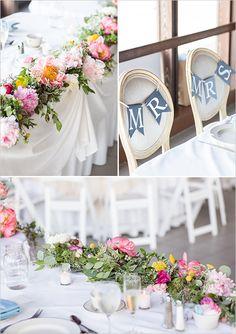 bridal table decor #bridalpartytable @weddingchicks