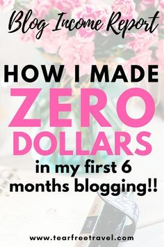 6 Month Blog Income Report: How I made ZERO dollars in my first 6 months blogging!