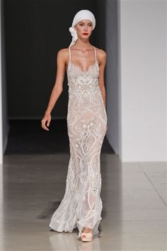 I love this dress and the head scarf    Temperley spring 2012.