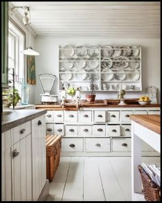 An Eclectic Country Kitchen   Content in a Cottage