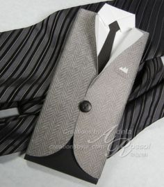 Tutorial: Sport jacket with shirt and tie card
