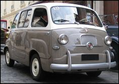 Fiat 600 I know this is not a 500, but I just had to pin it.  It's so cute!