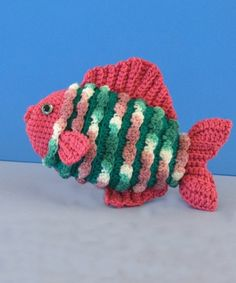 Tansy the Crocheted Fish - would be cute soap holder maybe for Ki's homemade soaps