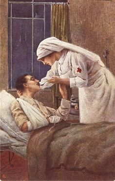 Per i feriti in Guerra (For the wounded in war), ca. 1915. Pictures of Nursing: The Zwerdling Postcard Collection. National Library of Medicine