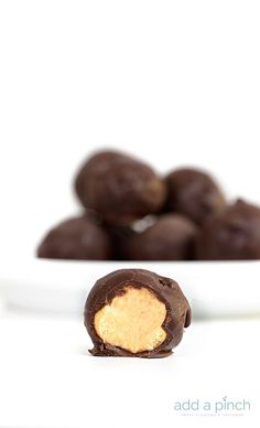 Peanut Butter Balls are the perfect combination of peanut butter and chocolate! This simple, no-bake recipe makes about 24 peanut butter balls everyone loves!