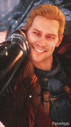 Sometimes FaceApp hurts my feelings. I wish we got to see him smile like this! Dragon Age 4, Cullen Dragon Age, Solas Dragon Age, Dragon Age Funny, Dragon Age Series, Dragon Age Games, Dragon Age Origins, Dragon Age Inquisition, Dragon Age Characters