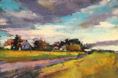 Stafford Remembered, 4x6 pastel, $75. on Daily Paintworks I've been on the road quite a bit between moving and working on my online ...