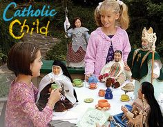 "Have a tea party with the Saints with a little help from Catholic Child! Find saintly books, audio cd's, movies, dolls and more all featuring your child's favorite ""Heros with Halos""!"
