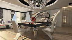 Billiard Table, Dinner Billiard Table, Pool Billiard, Tavolo Biliardo, Snooker, Billiard Room, Billiards - Cabochon by MBM Biliardi - Design - Luxury - Technology - High Quality - Made in Italy