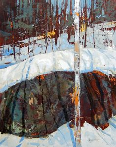 "Muse Gallery Toronto - painter: David Lidbetter ""Luminesce"" - Oil on wood pane Contemporary Landscape, Landscape Art, Landscape Paintings, Great Paintings, Winter Art, Art For Art Sake, Canadian Artists, Winter Landscape, Painting Inspiration"