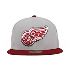 010e8b39eb Detroit Red Wings Gray   Cardinal (Green Under) 59fifty 5950 New Era Cap Red