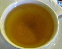 These are pictures I took of The Tea Spot's Jasmine Petals tea. This one is the steeped tea.
