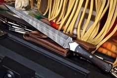 CFK USA Custom Handmade Damascus Scottish Dirk Dagger Combat Black Palm Knife #CFKCutleryCo