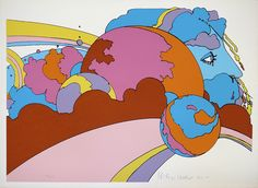 Astral World Watcher by Peter Max