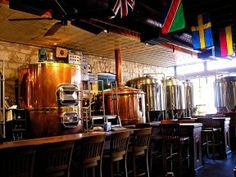 """Fredericksburg Brewing Company, Fredericksburg, TX: Fresh ales and lagers brewed on-site in copper kettles and stored in stainless tanks. Also full service restaurant, meeting facility and """"bed & brew"""" rooms upstairs."""